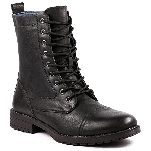 Metrocharm MET525-7 Men's Lace Up Cap Toe Military Combat Work Desert Casual Fashion Boots