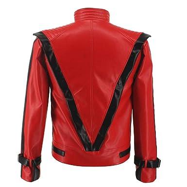 Amazon.com: Michael Jackson Thriller - Chaqueta de piel de ...