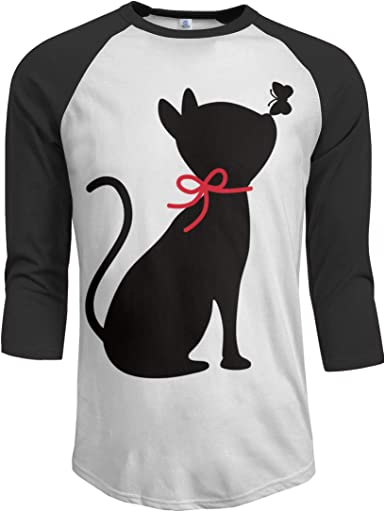 MiiyarHome Mens Raglan Sleeves Baseball T-Shirts Witch Cat Names 3//4 Long Sleeves Boys Jersey Tee Shirt Black