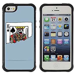 ZeTech Rugged Armor Protection Case Cover - Funny Playing Card Illustration - Apple Iphone 5 / 5S