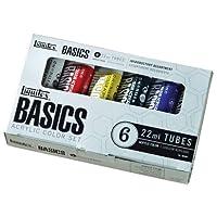 Tubos de pintura acrílica Liquitex Basics - 6 colores