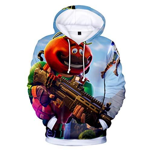 JIEFEIZHL Teen Girls Boys 3D Printed Unisex Pullover Hoodie Sweatshirts Asia XXS
