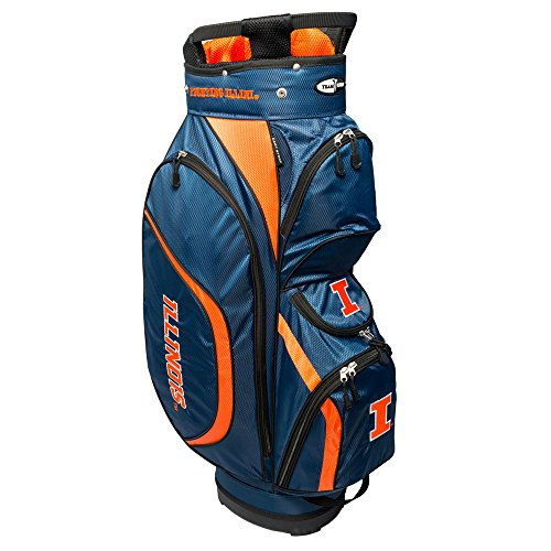 Team Golf NCAA Clubhouse Cart Bag, Illinois by Team Golf
