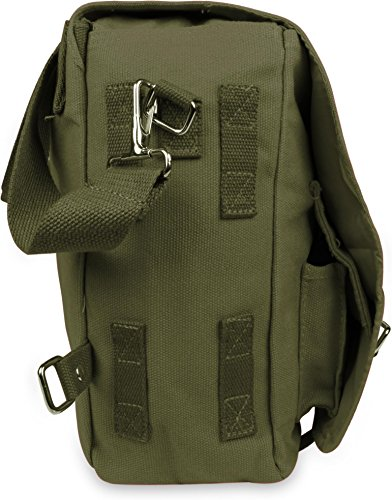 Große und kleine Umhängetasche - Schultertasche - Schultasche - Bag Oliv FKK7uoUQ
