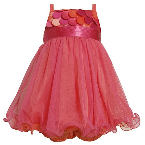 Bonnie Jean Baby Girl Fuchsia-Pink Scallop Die Cut Social Party Dress, FUCHSIA, ()
