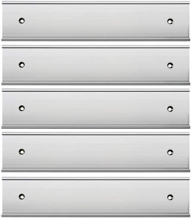 """Same day shipping Nameplate Holder Wall or Door Silver × 8"""" 2"""" 5Pack Chicago Mall"""