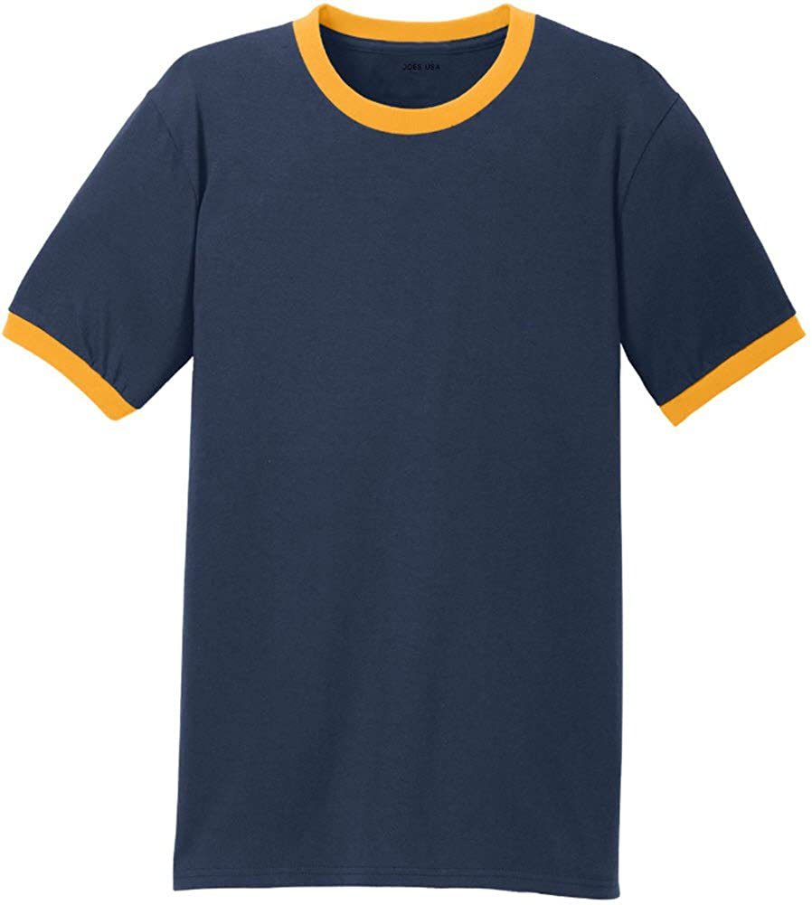 ed2d580e3711 Joe's USA Men's Soft 5.4-Oz 100% Cotton Ringer T-Shirts in Adult Sizes:  S-4XL   Amazon.com