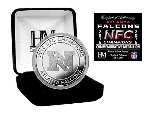 NFL Atlanta Falcons Highland Mint2016 NFC Champions Silver Mint Coin, Gold
