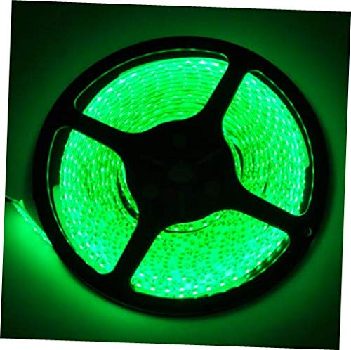 LED Green Non-Waterproof LED Light Strip 600 SMD 3528 16.4Ft Roll 5M 12V Rope Light Adhesive Back IP65/20