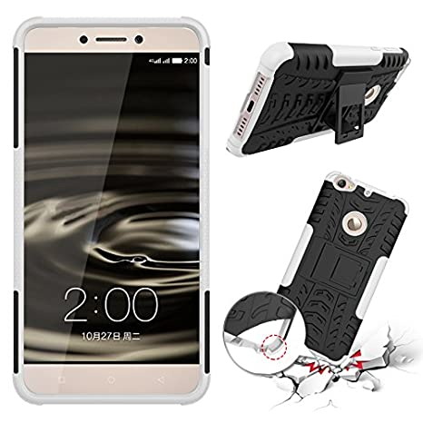 Qiaogle Teléfono Case - Shock Proof TPU + PC Hibrida Stents Carcasa Cover para Letv 1S