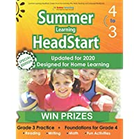 Summer Learning HeadStart, Grade 3 to 4: Fun Activities Plus Math, Reading, and Language Workbooks: Bridge to Success with Common Core Aligned Resources and Workbooks