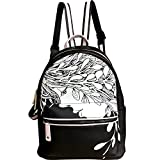 Shrxy PU Leather Casual Backpack Multi-functional School College Backpack Travel Shoulder Bag for Women's and Girls Black colo