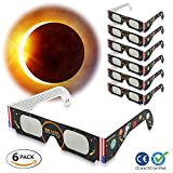 Solar Eclipse Glasses – Special August 2017 Edition – ISO & CE Certified Safety Shades For Direct Sun Viewing & Filtering - Eye Protection - For All Ages - Cool Design - Available In 6-Pack or 12-Pack