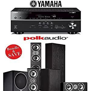 Polk audio tsi 400 5 1 ch home theater speaker for Yamaha 7 2 home theatre system