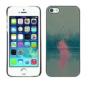 Cubierta de la caja de protección la piel dura para el Apple iPhone 5 / 5S - pink teal motivational quote