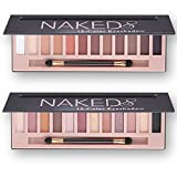Amazon Price History for:2 pcs 12 Color Naked Palette Eyeshadow Makeup Waterproof Glitter Shimmer Make Up Colors Naked Pigments Professional Eyeshadow Palette