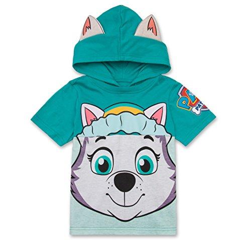 Bubble Guppies Merchandise (Nickelodeon PAW Patrol Hooded Shirt: Skye, Everest - Girls (Turquoise Everest,)