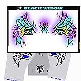 Halloween Face Painting Stencil - StencilEyes Black Widow