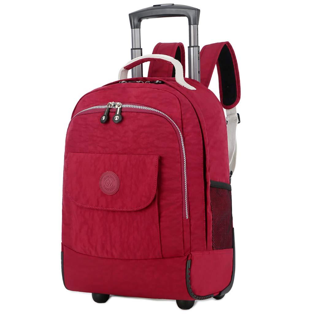 学校のラップトップバッグを旅する少年のためのトロリーバックパック大容量ストレージウィールドローリングバックパック防水旅の荷物   B07NMCRXY3