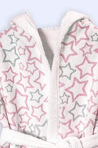 Encapuchado Bata de Ba/ño Color Rosa Ti TIN