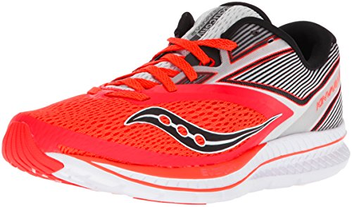 Saucony Women's Kinvara 9 Fitness Shoes, Sky Blue-White Red (Viz Red / Wht 2)
