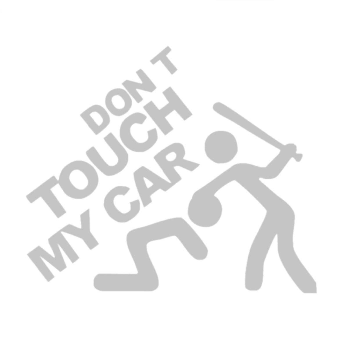 Súper fresco No toque mi auto Impreso auto Impermeable Etiqueta de moda Advertencia de seguridad Dibujos animados Pegatina decorativa - Blanco Delicacydex