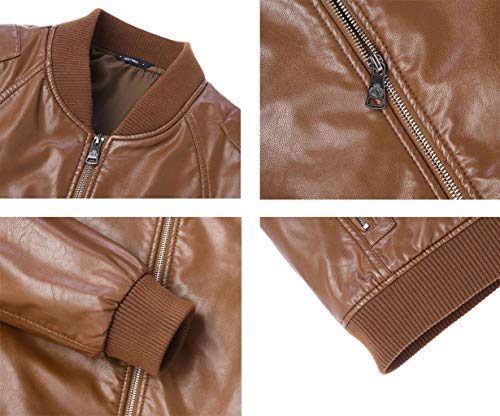 Collar Jacket Leather Fashion Winter PU Autumn Black And Men's Warm Jacket Coat Stand Leather Business 5nTqcv