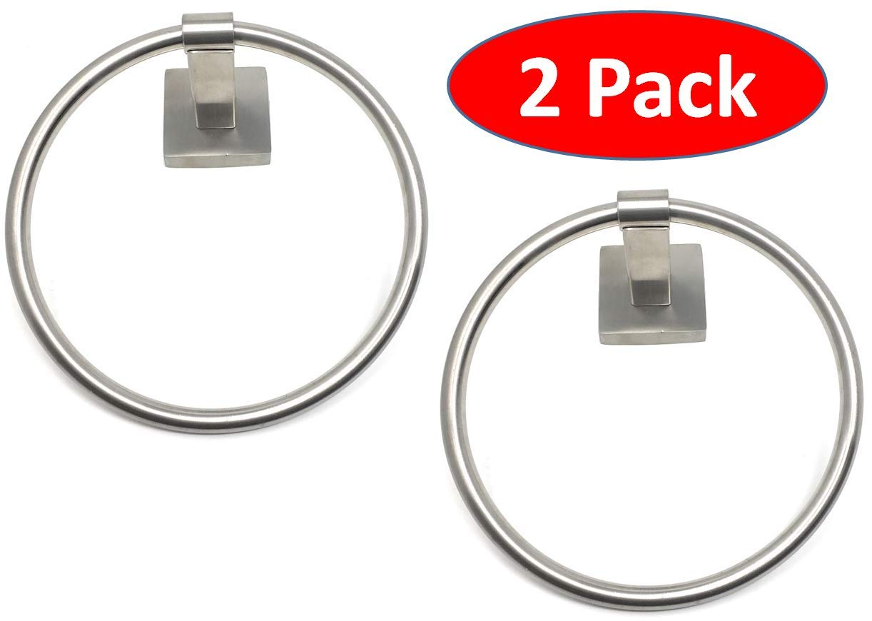 TEJATAN - Set of 2 - Towel Ring (Can Also be Known as - Round Towel Holder, Round Bathroom Towel Holder, Bathroom Hardware Accessory Towel Ring) by TEJATAN