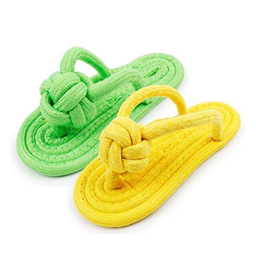 - WORDERFUL Fun Decoy Sandal Natural Cotton Rope Save Your Shoes Pet Chew Toy,Random Color (2 or 4 Pcs) (2 Pieces)