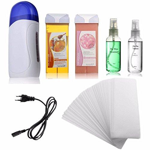 LuckyFine patrone depilatory heizung wachs enthaarung papierstreifen kit haarentfernung setzen