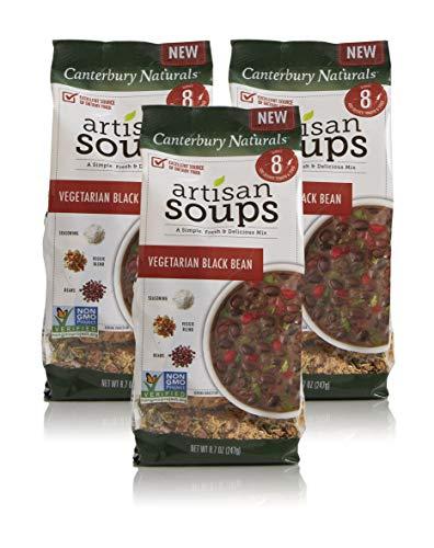 Canterbury Naturals Artisan Soup Mix, Non-GMO Black Bean Soup, Pack of 3