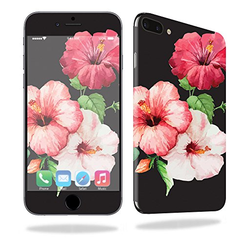 MightySkins Skin for Apple iPhone 7 Plus - Hibiscus | Protective, Durable, and Unique Vinyl Decal wrap Cover | Easy to Apply, Remove, and Change Styles | Made in The USA