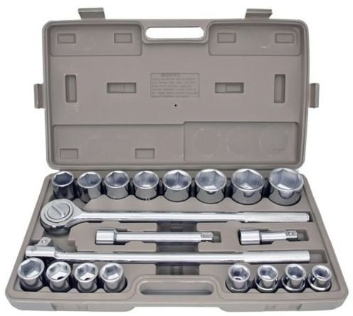 """Produit Royal 21pcs 3/4"""" Drive Socket Tool Set Metric with Storage Case Jumbo Ratchet Wrench Extension - Square Price In Try India"""