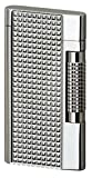 Sarome Flint Lighter SD7-09 Silver lattice diamond cut
