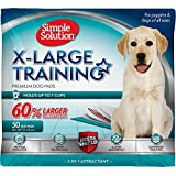Simple Solution Training Puppy Pads | Extra Large, 6 Layer Dog Pee Pads, Absorbs Up to 7 Cups of Liquid | 28x30 Inches, 400 Count
