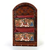 Little India Hand Painted Wooden 2 Letter and 4 Key Holder 299