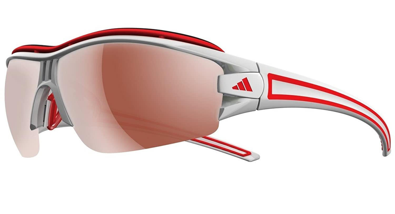 Herren Sonnenbrille adidas Sport eyewear Evil Eye Halfrim Pro L shiny white/red