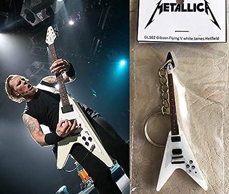 Llavero Guitarra Gibson Flying V James Hetfield Metallica Blanco ...