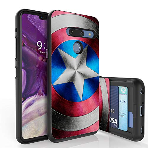 (Beyond Cell Slim Dual Layer Wallet Case for LG G8 ThinQ/820 (6.1