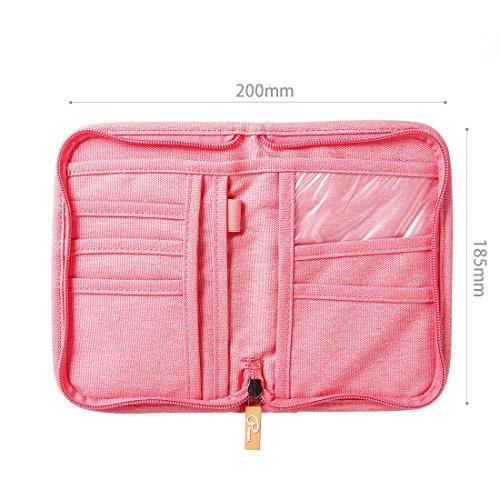 SUSU Travel Passport Wallet Case Family Passport Holder Organizer 4 Passport Cover for Women, Mom, Girls by SUSU (Image #2)