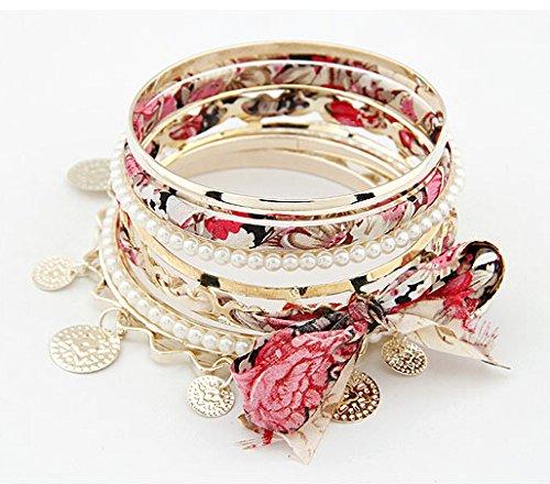 Trendiges Damen Mädchen Armband Armschmuck Armreif Schmuck Perlenarmband Accessoire von der Marke MyBeautyworld24