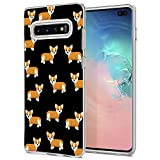 Matcase for Galaxy S10 Case - Corgi Dog Pattern Hard Crystal Clear Transparent Anti Scratch Resistance with Full Protection TPU Bumper Designer Case