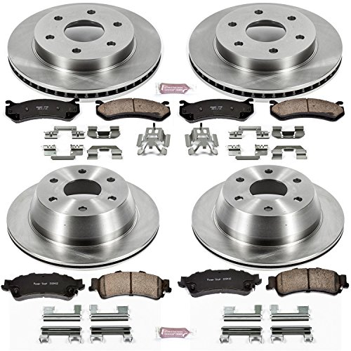 Autospecialty KOE2010 1-Click OE Replacement Brake Kit (Best Brake Pads For Chevy Silverado)