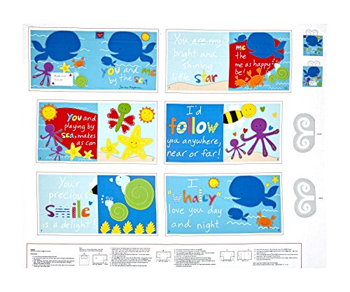 Huggable & Loveeable You and Me by The Sea Soft Book 35.5in Panel Multi Fabric (Panel Soft Fabric Book)