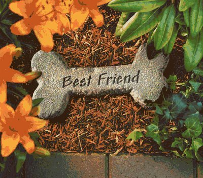 Best Friend Pet Memorial Stone Dog by KayBerry