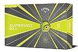 Callaway Golf Superhot Bold Matte Golf Balls (Pack of 15), Yellow