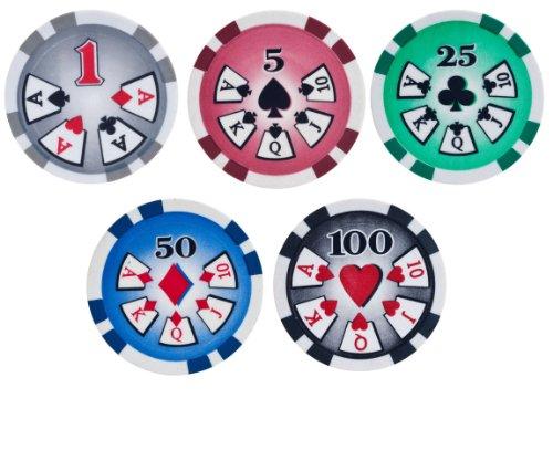 High Roller 11.5gm Poker Chip Sample Set - 5 New Chips ()