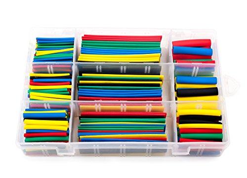 Raspberry Tubing (SummitLink Box-packed 328 Pcs Assorted Heat Shrink Tube 5 Colors 8 Sizes Tubing Wrap Sleeve Set Combo (HT328Box))