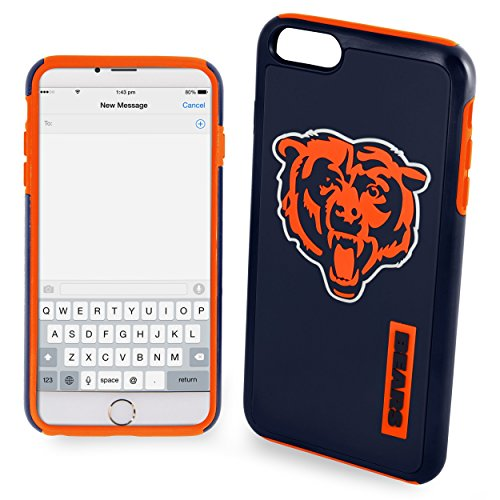 Forever Collectibles - Licensed NFL Cell Phone Case for Apple iPhone 6 Plus / 6s Plus - Retail Packaging - Chicago Bears