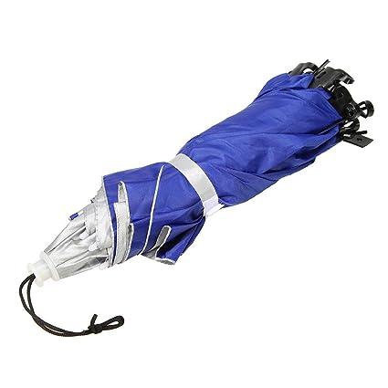 2c022370b869b kingromargo Foldable Head Umbrella Hat Anti-Rain Fishing Sun Shade Parasol  Cap (Silver)  Amazon.co.uk  Kitchen   Home